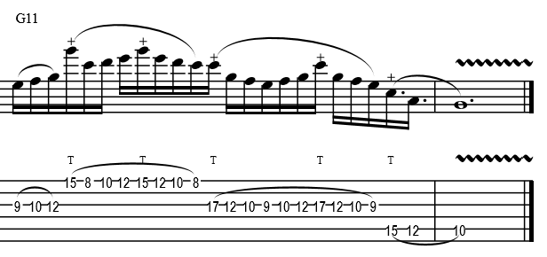 String Skipping Example Solo