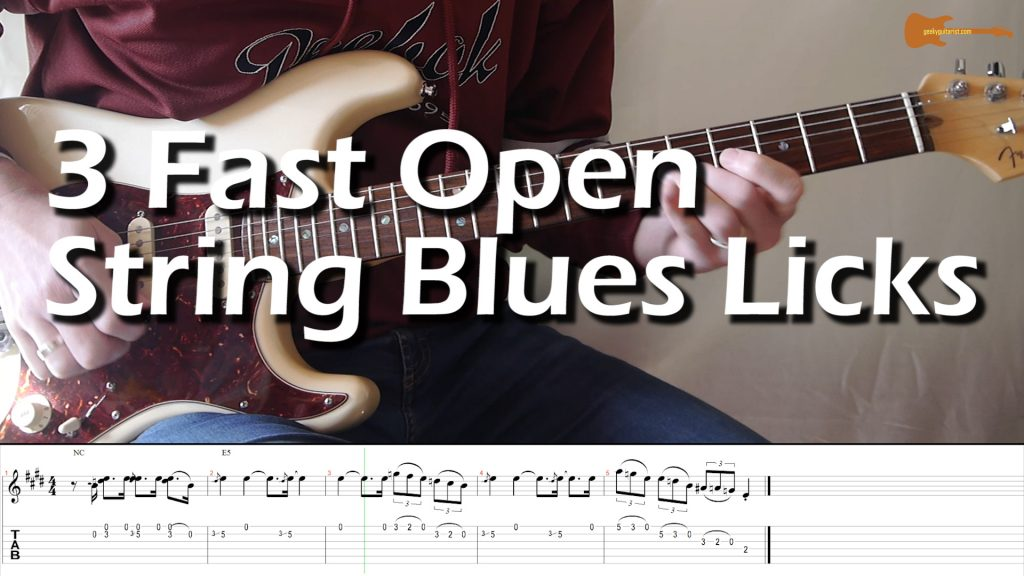 3 Fast Open String Blues Licks