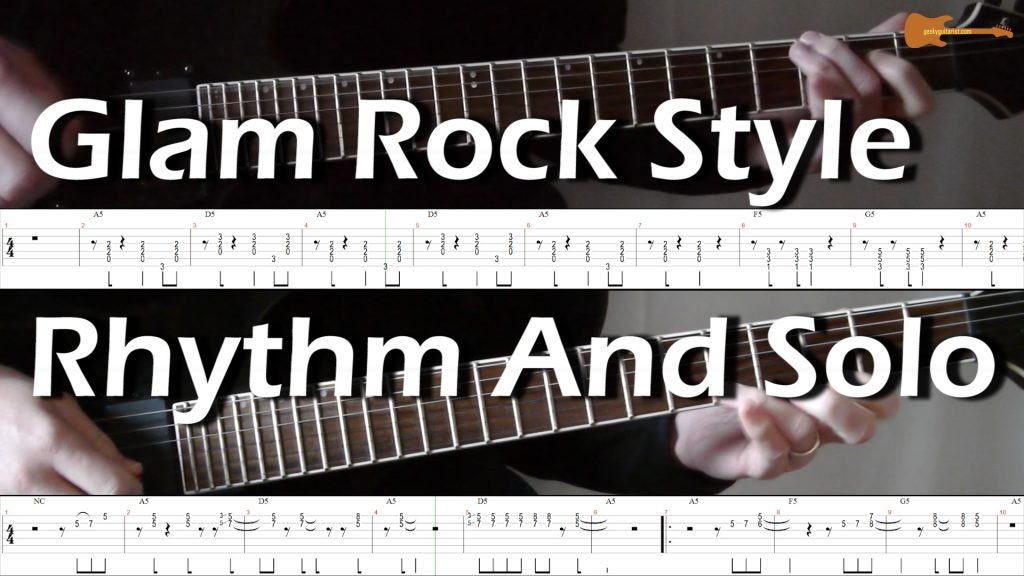 Glam Rock Style Rhythm And Solo