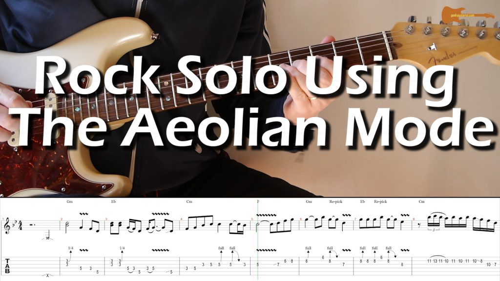 Rock Solo Using The Aeolian Mode