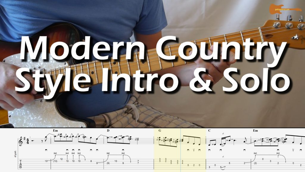 Modern Country Style Intro And Solo