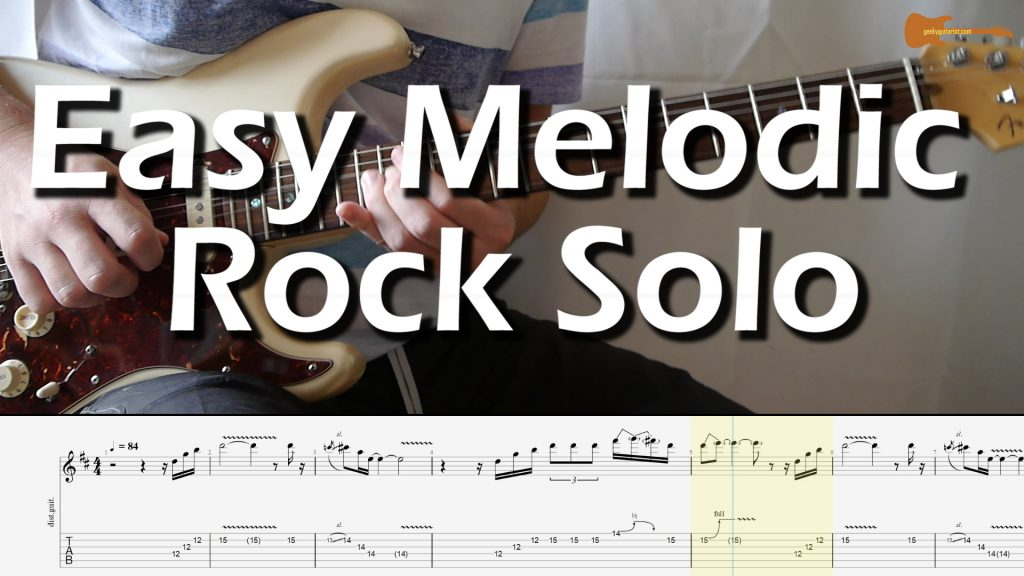 Easy Melodic Rock Solo