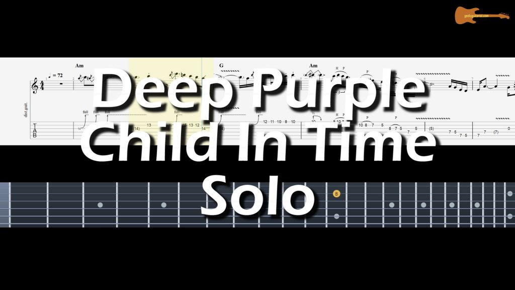 Deep Purple Child In Time Solo (Normal Speed & Slow Speed)